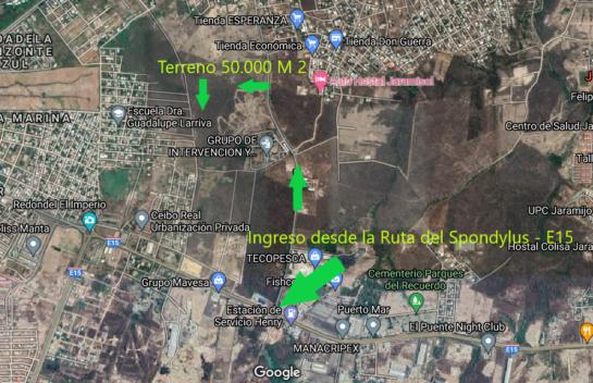 Terreno de venta en Jaramijó 50.000 M2, en Zona Industrial y Urbana