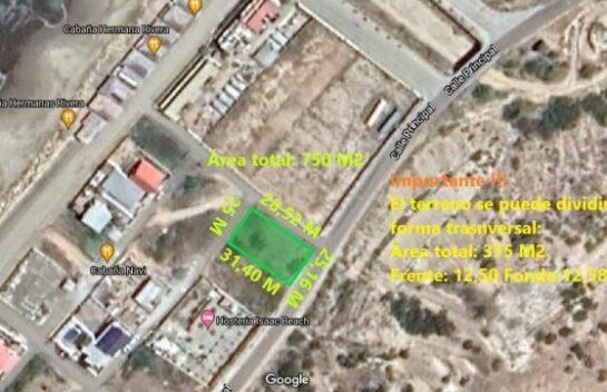 Terreno de venta en Santa Marianita 750 M2, segunda línea de mar