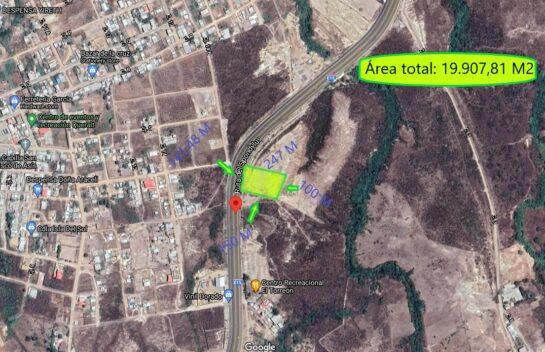Terreno de venta 19.907,81 en Vía E15- Ruta del Spondylus, Manta