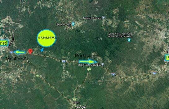 Terreno de venta en vía Montecristi-Portoviejo 177.645,30 M2