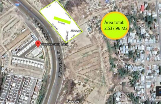 Terreno de venta en Ruta del Spondylus-E15, 2.537,96 M2