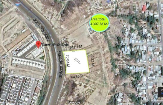 Terreno de Venta en Ruta del Spondylus – E15, 4.307,38 m²