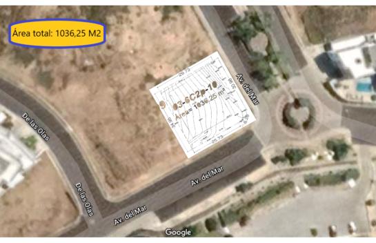 Terreno de venta en urbanización Ciudad del Mar 1.036,25  M2, Manta