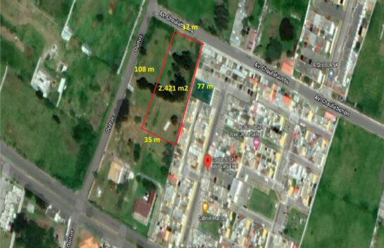 Terreno en Venta Los Chillos 2.421m2, Amaguaña, La Salle 2, Vivienda Vip y Vis
