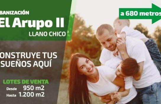 Venta de Terreno en Llano Chico 1.140 m2 Urbanización Privada El Arupo, a 15 Min de Nayon