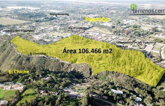 Venta de terreno Puembo 106.466 m2, sector exclusivo.