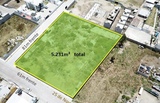 Venta de terreno 5.231m² sector Llano Grande para proyecto Inmobiliario