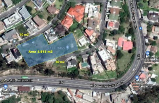 Terreno de venta en urbanización privada Miravalle 4 de 3.813 m2 Cumbayá